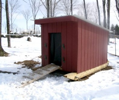 New Hampshire style shelter, courtesy of Sullbar Farm.