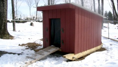 New Hampshire style shelter, courtesy of Sullbar Farm.