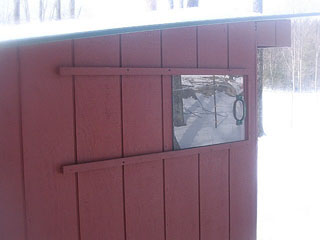 Close-up of ventilation for New Hampshire shelter, courtesy of Sullbar Farm.