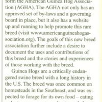 IN THE NEWS – American Livestock Breeds Conservancy (ALBC) Newsletter, page 10 of October 2006 issue